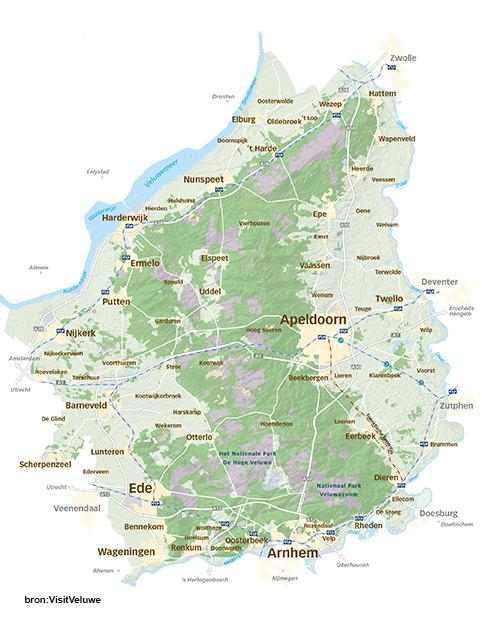 Kaart Veluwe